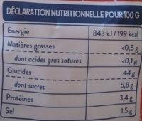 Gnocchi à poêler tradition - Informations nutritionnelles - fr