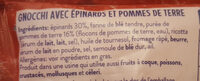 Gnocchi à poeler epinards - Ingredienti - fr