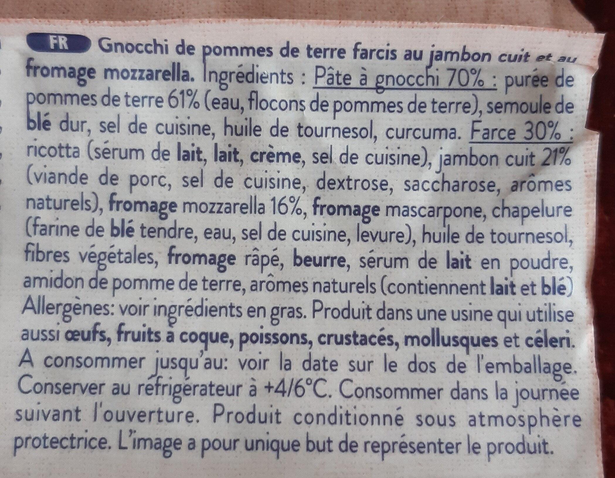 Gnocchi farcis - Ingredienti - fr