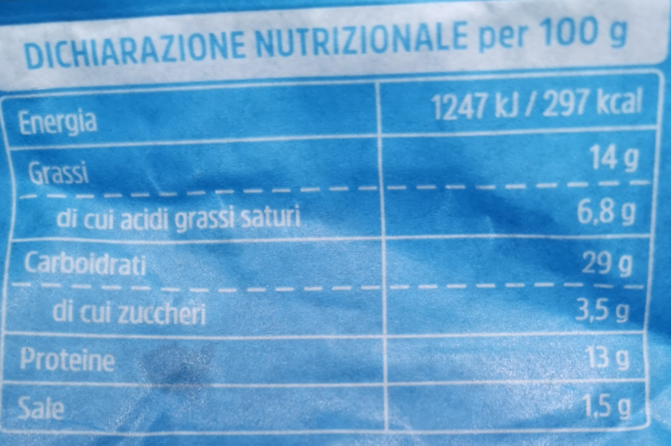 Sfogliavelo Gorgonzola DOP e passito - Voedingswaarden - it