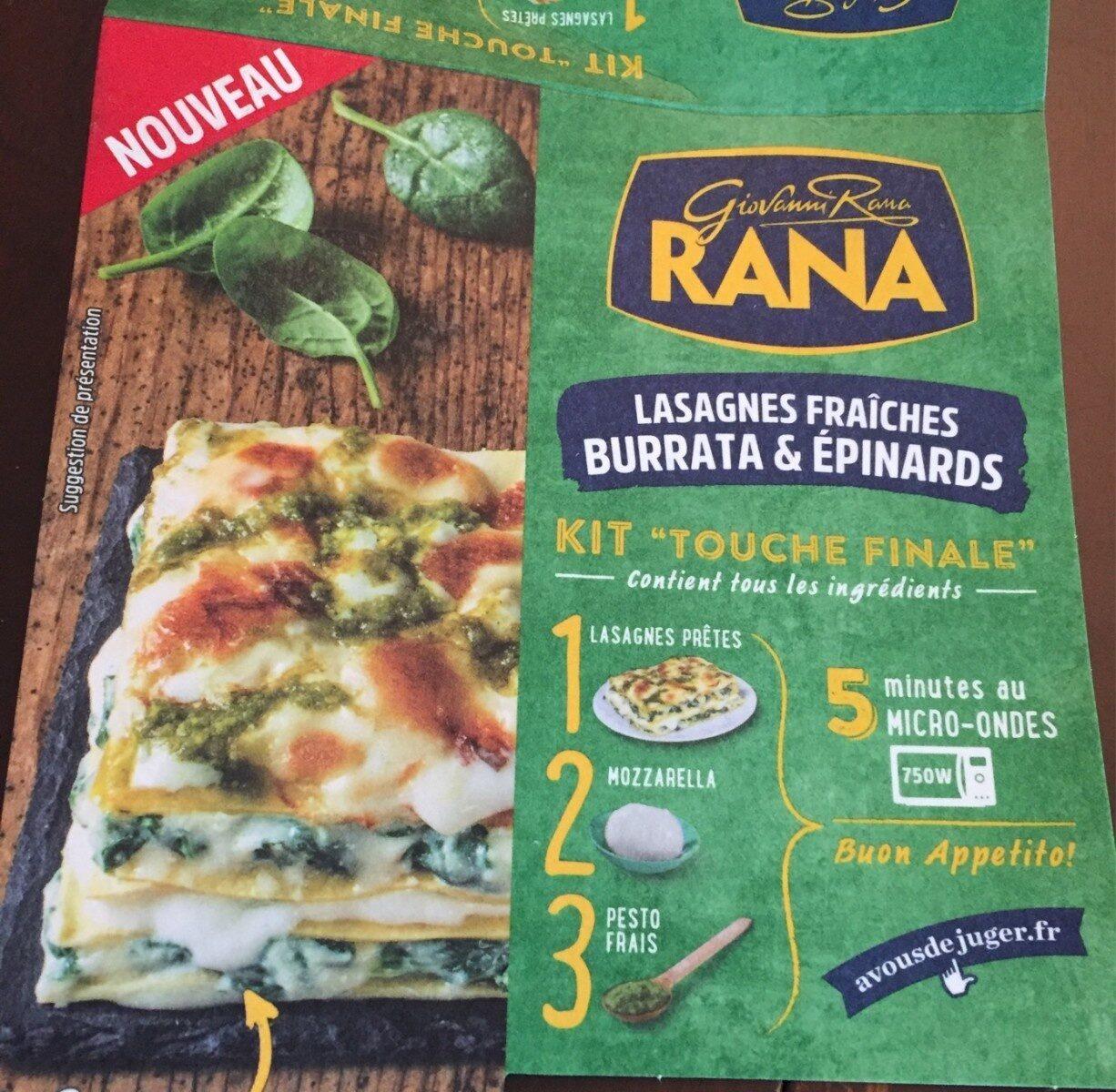 Lasagnes Fraîches Burrata & Epinards - Product - fr