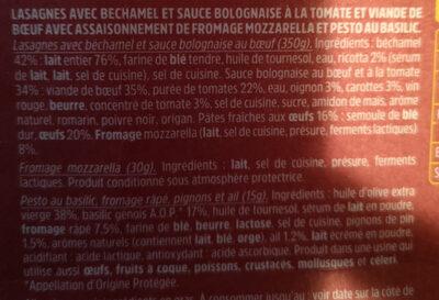 Lasagna bolognese - Ingredients - fr