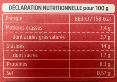 Fusili à la bolognaise - Nutrition facts - fr