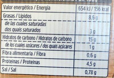 Kit para cocinar Tagliolini Frescos Setas y Boletus - Informations nutritionnelles - es