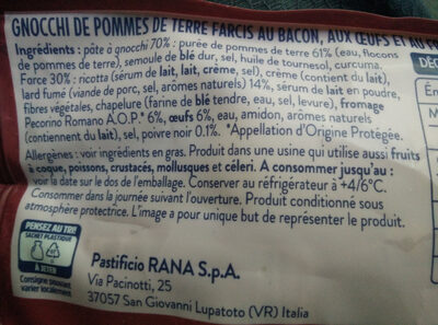 Gnocchi farcis carbonara - Ingrédients - fr