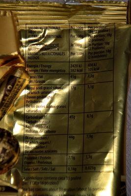 Pernigotti - Informations nutritionnelles