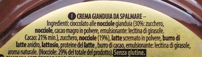 Gianduia - Ingredients - en