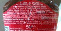 Amor & Crème - Información nutricional
