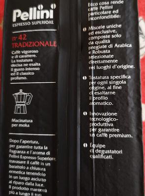 Espresso superiore - Inhaltsstoffe - it