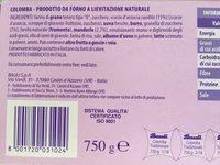 Bauli - La Colomba 750 Gr - Ingredients