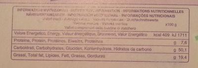 CiocoSoffice - Voedingswaarden - fr