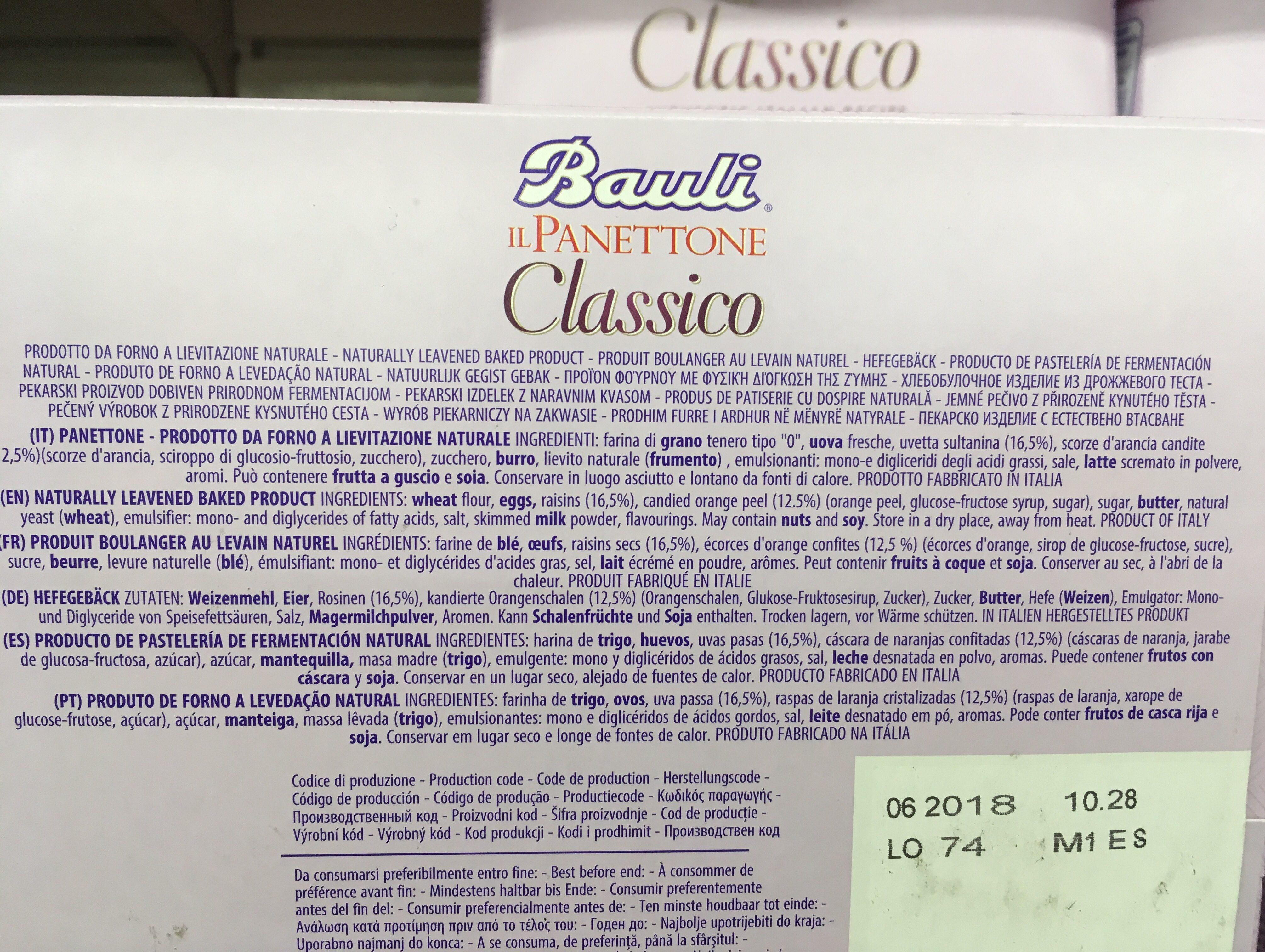 Bauli Il Panettone 750G - Ingrédients
