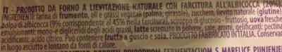 Bauli Croissant Albicocca 50g - Ingrédients - it