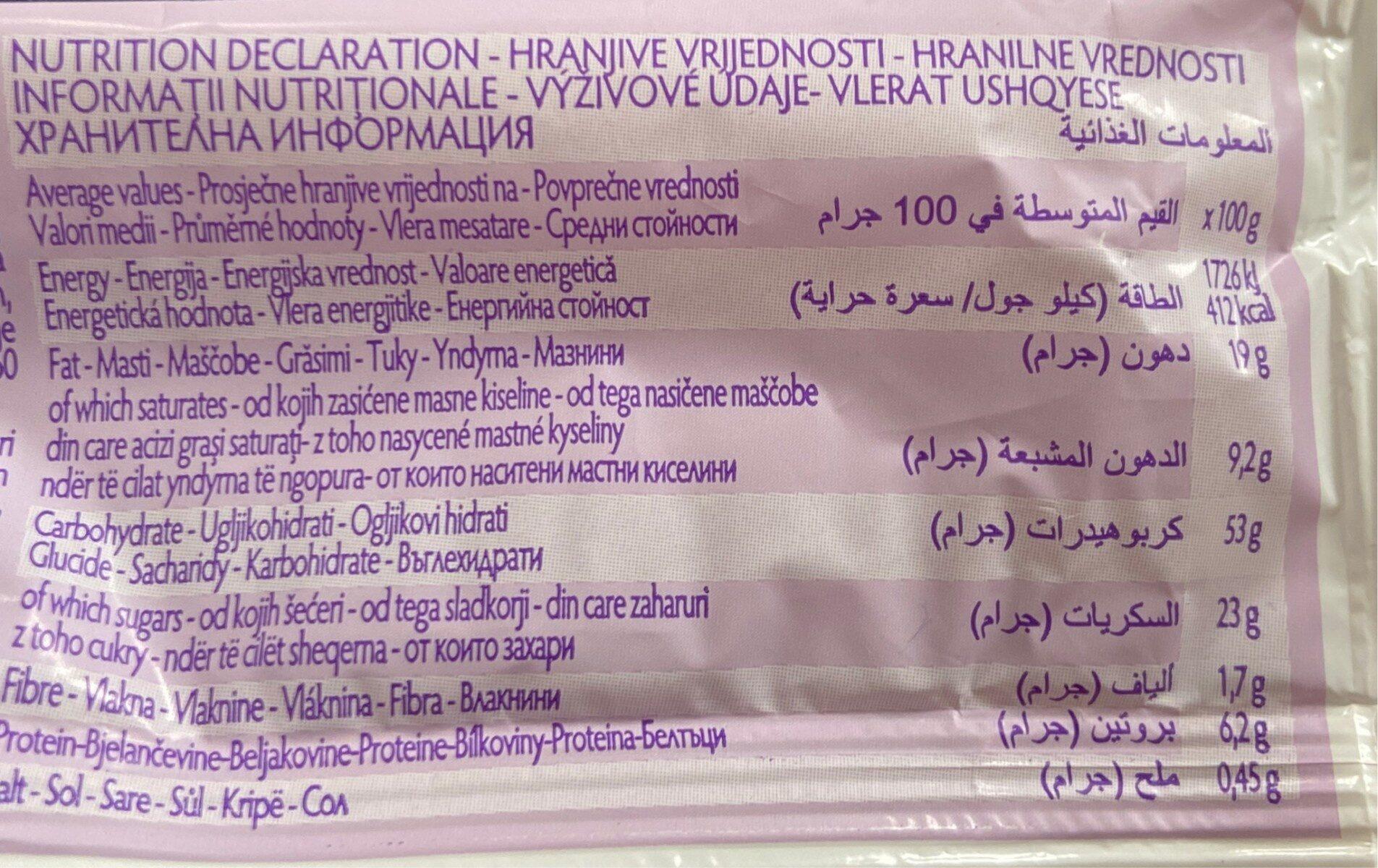 Bauli Croissant Albicocca 50g - Informations nutritionnelles - it