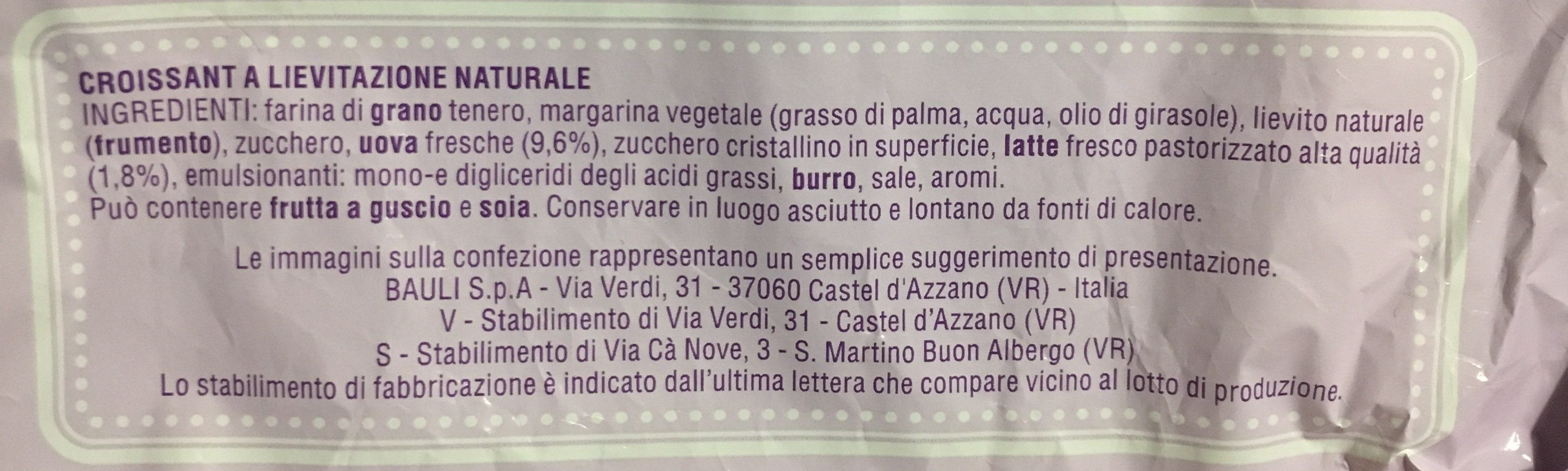 I classici croissant tradizionale - Ingredients - fr