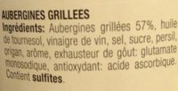 Aubergines Grillées - Ingrediënten - fr