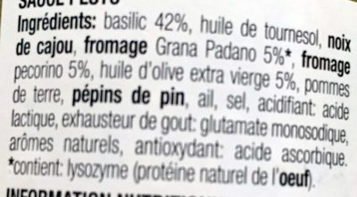 Sauce Pesto Alla Genovese 190 G - CASTELLI - Ingrediënten - fr