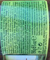 190G Sauce Pesto Rosso Di Vita - Ingredients
