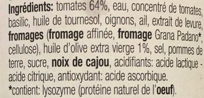 Pesto Rosso - Ingrediënten - fr