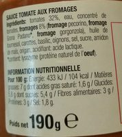 Sauce tomate aux Sauce Tomate Aux Fromages Italiens - Ingrediënten - fr