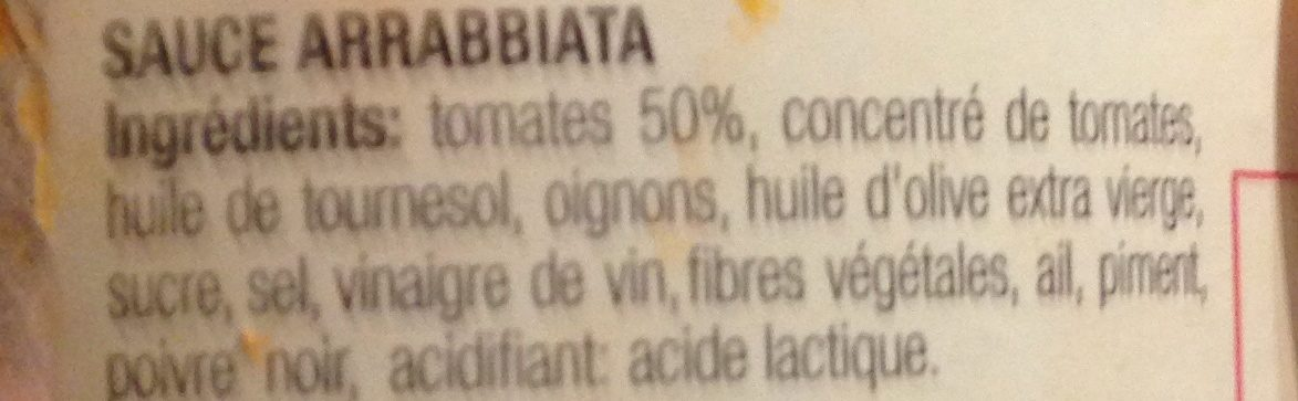 Sce Pasta Artiganale Arrabiata - Ingrediënten - fr