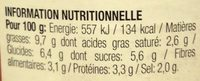 Pietro Castelli Sauce Pasta Poivron Fromage 190G - Voedingswaarden - fr