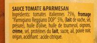 Sauce Parmesant 680GR - Ingredients - fr