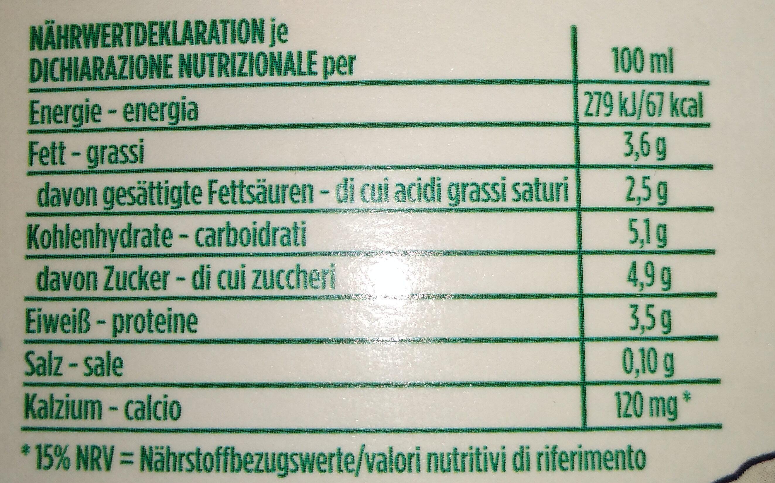 Latte fieno fresco di montagna intero - Ingredienti - it