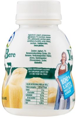 Mila Yogurt da bere banana - Nutrition facts