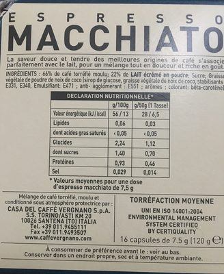 Caffe Vergnano 1882 - Ingredients
