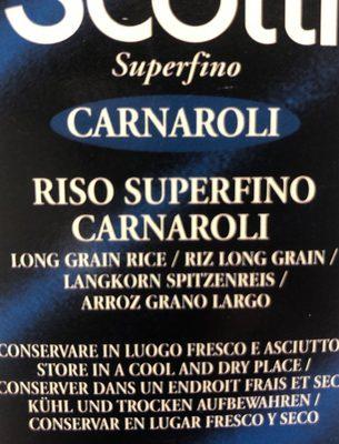 Carnaroli - Ingrediënten - fr