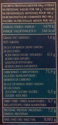 Carnaroli - Voedingswaarden - fr