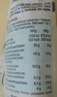 RisoVital - Nutrition facts - ro