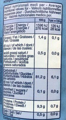 Bio croccanti Risette - Nutrition facts