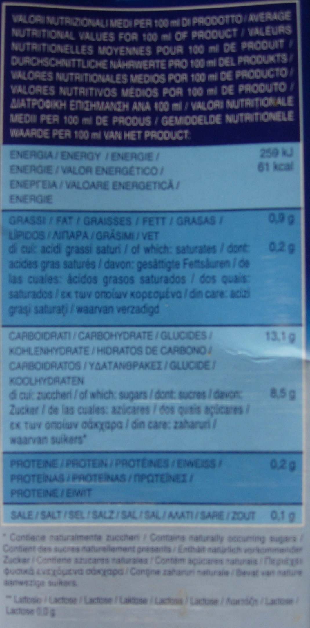 LAIT de RIZ - Nutrition facts