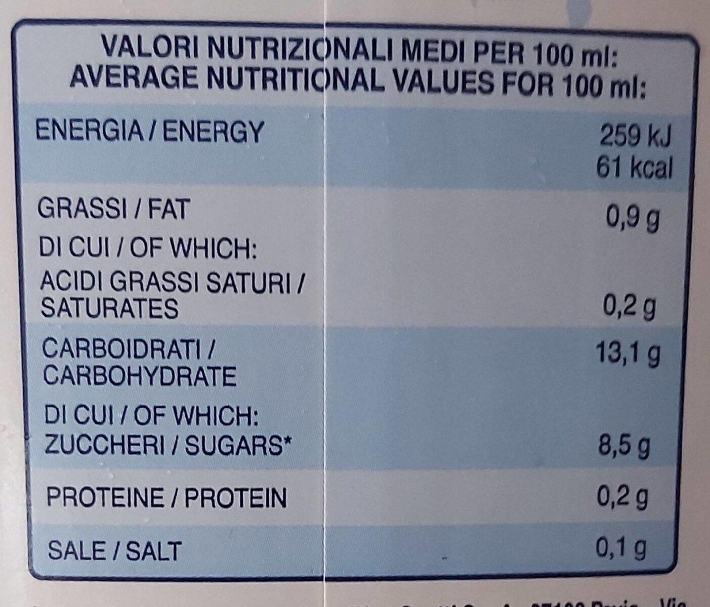 Bevanda di riso - Voedingswaarden - fr