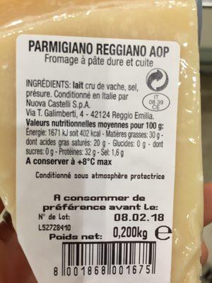 Parmigiano Reggiano - Ingredients