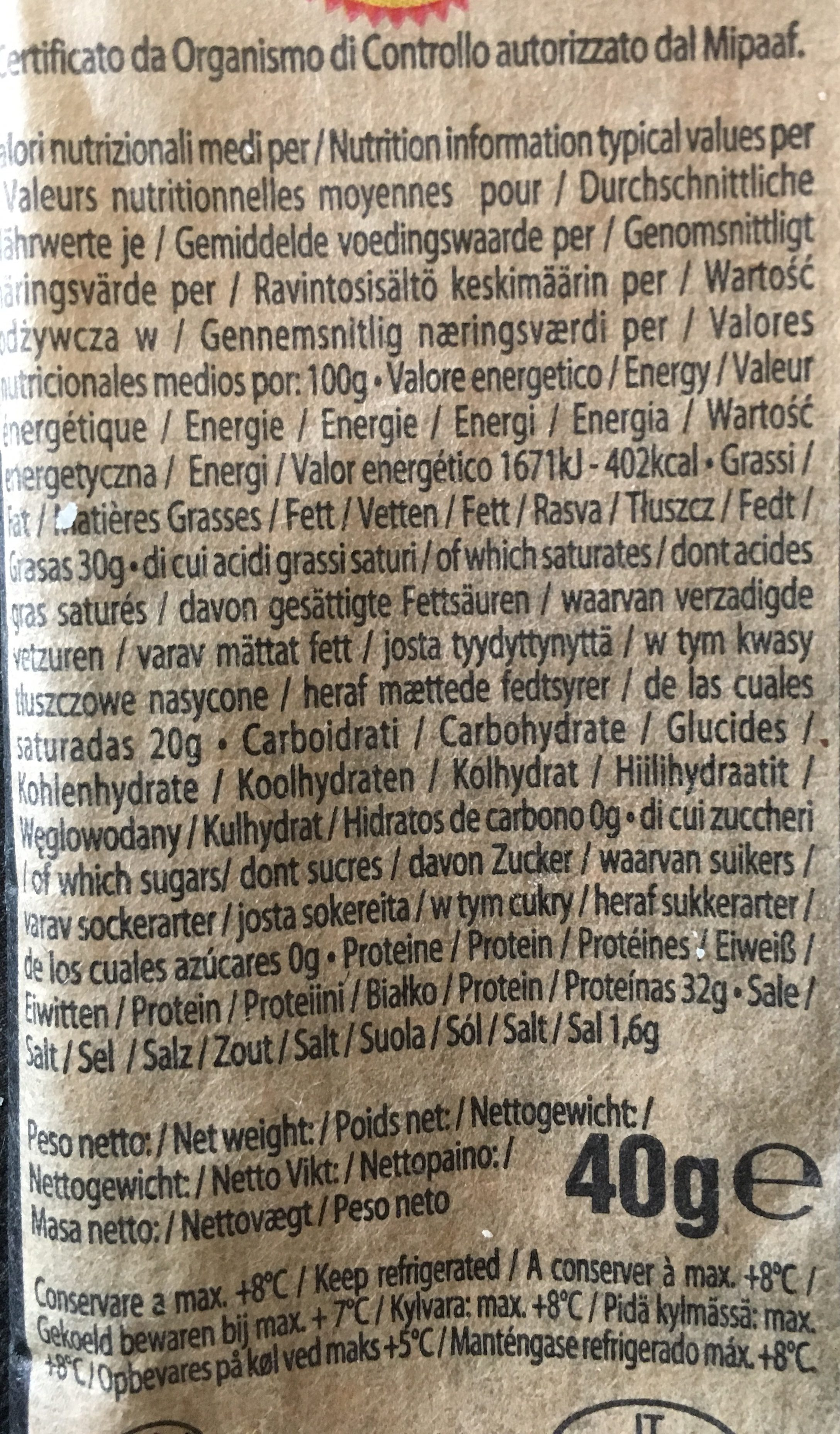 Parmigiano Reggiano (Parmesan) - Ingrédients