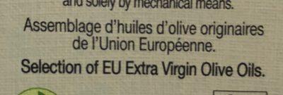 Huile Olive Vierge Extra - Ingrédients - fr