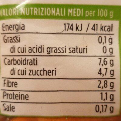 Carotine Baby Snack - Informació nutricional