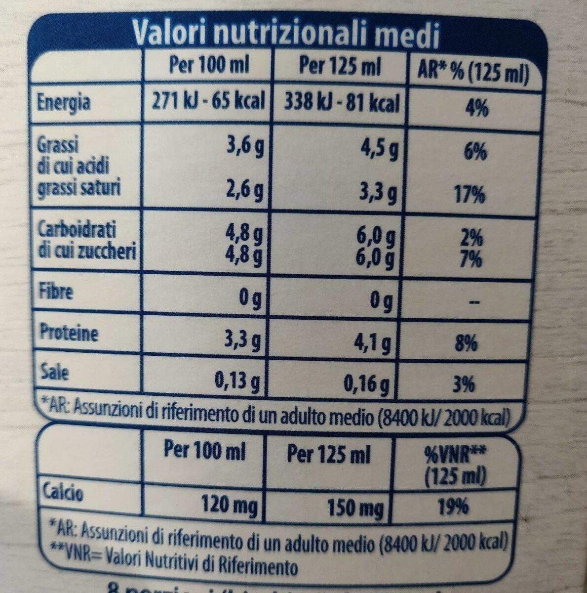 Latte fresco intero - Nutrition facts - it