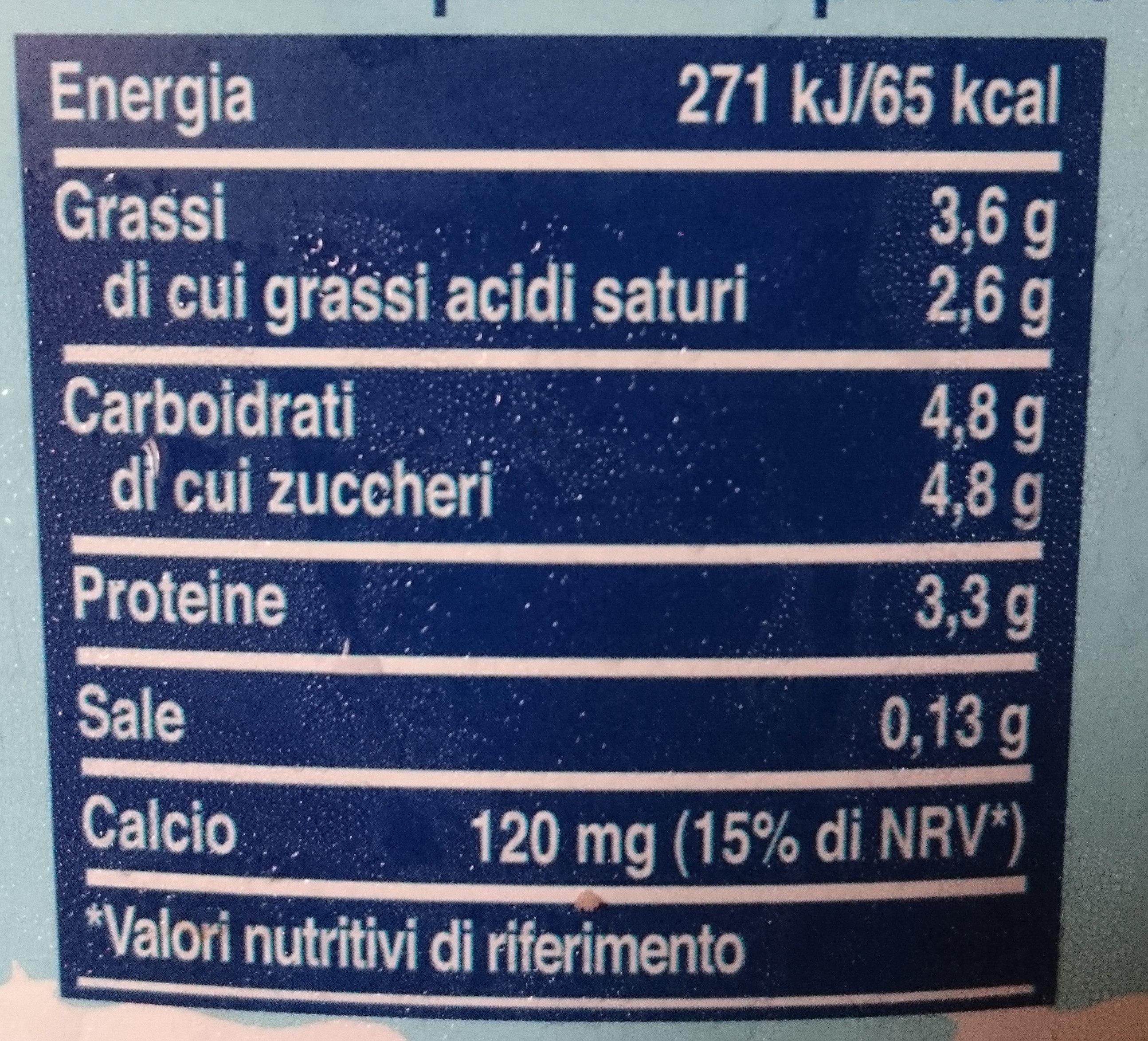 Latte fresco intero - Nutrition facts