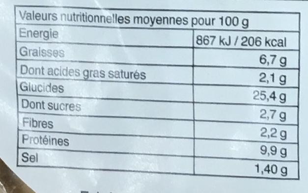 Pizza Royale surgelée - Nutrition facts