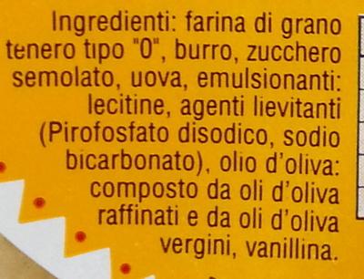 Ovaline al burro Barovero Specialità Dolciarie - Ingredienti