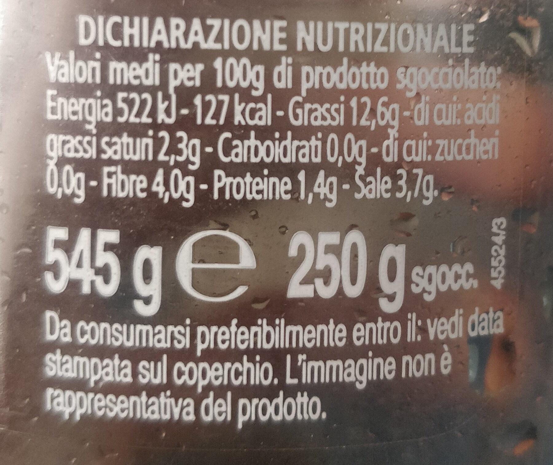 olive verdi denocciolate - Informazioni nutrizionali - it