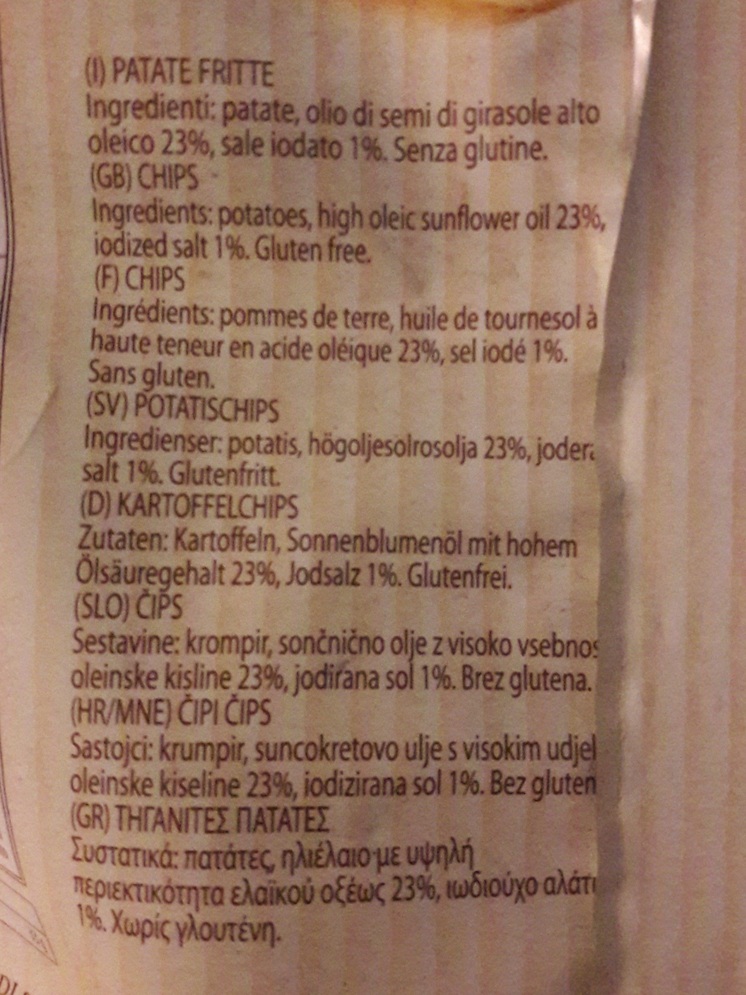La Patatina Artigianale Chips, Gesalzen - Ingrédients