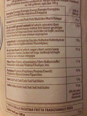 La Patatina Artigianale Chips, Gesalzen - Informations nutritionnelles