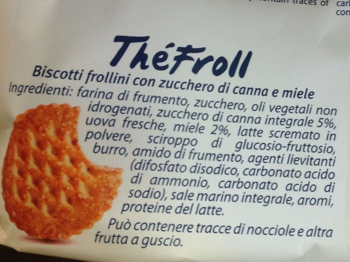 Thé Froll - Ingredients
