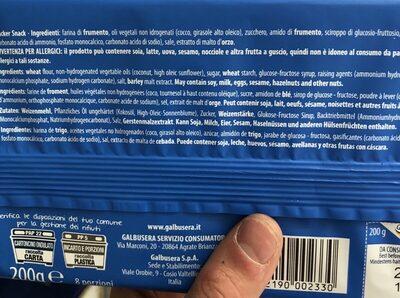 Trà crackers - Ingrédients - fr