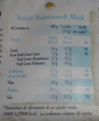 Riso su Riso Galbusera - Informazioni nutrizionali